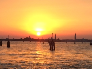 Sunset in Venice, Italy, signifying the end of a day. A new beginning follows the next day.