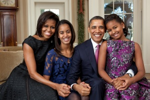 The beautiful Obama family